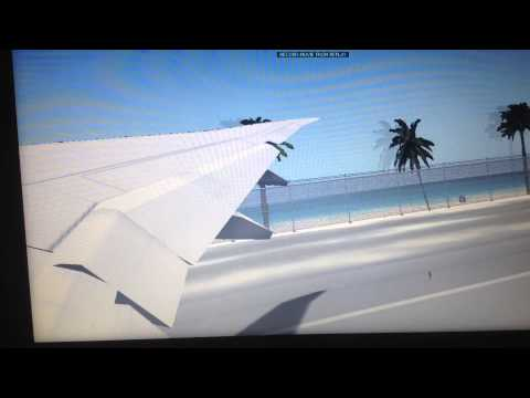 Take off at st maarten boeing 777-300er (american airline) x-plane 10