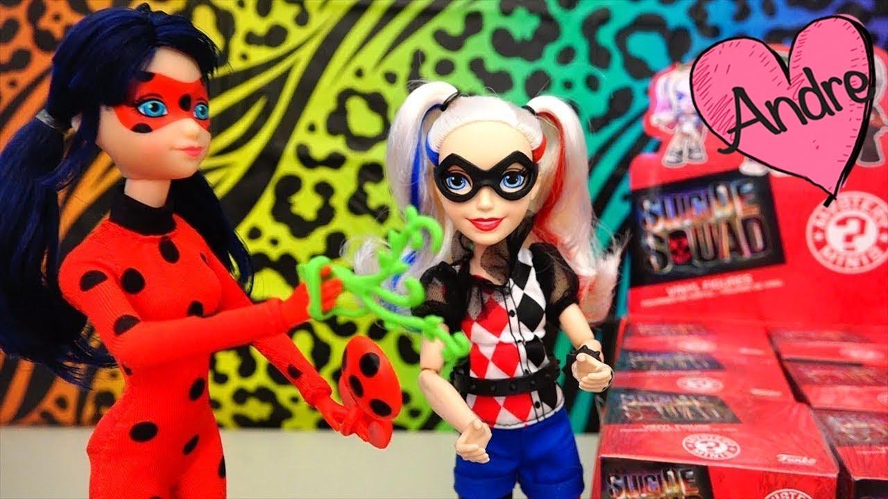 Ladybug Y Chat Noir Pelean Con Harley Quinn Por Las Cajas