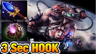 Miracle- Dota 2 - 3Sec IMBA PUDGE HOOK Aghanim's Scepter + Octarine Core