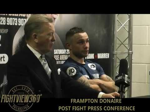 Carl Frampton Post Fight Press Conference 21st April 2018 Belfast Northern Ireland