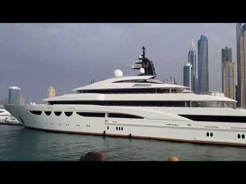 Large Royal Yachts at Dubai Marina 09.02.2017