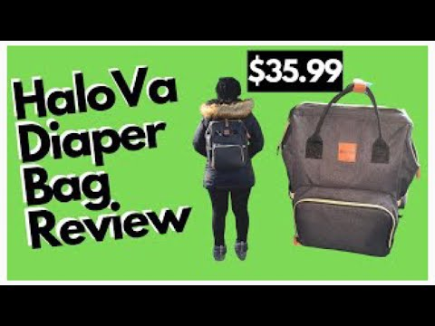 HALOVA BABY BAG REVIEW| WHAT'S IN MY DIAPER BAG