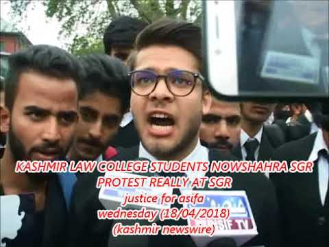 KASHMIR LAW COLLEGE STUDENTS NOWSHAHRA SGR PROTEST REALLY AT SGR