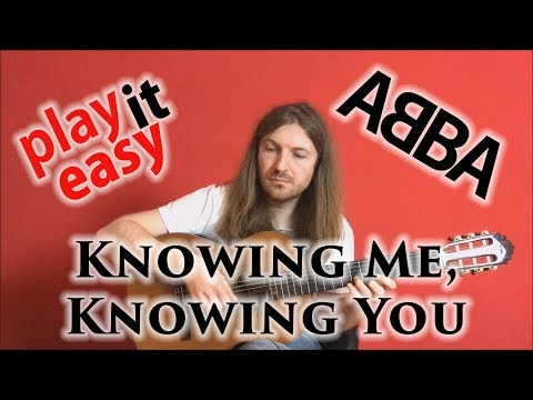 Knowing Me, Knowing You - Play It Easy - ABBA fingerstyle guitar cover tabs sheet music
