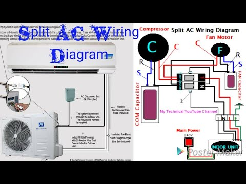split ac wiring diagram hindi my technical youtube channel