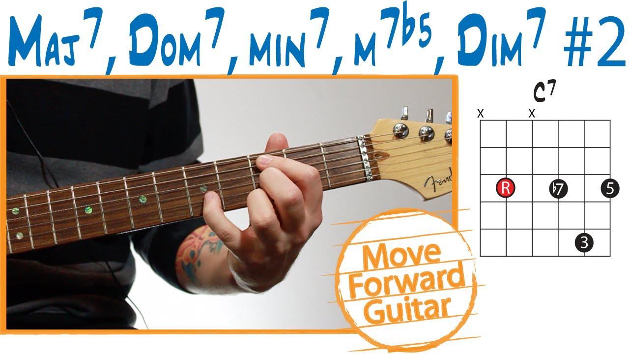 Guitar Chord Theory Maj7 Dom7 Min7 M7b5 Dim7 2 Youtube