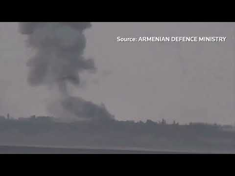 Armenian and Azeri forces deploy heavy artillery