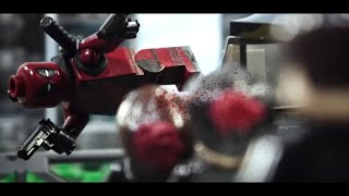 Lego Deadpool Red band trailer Lego recreation shot for shot