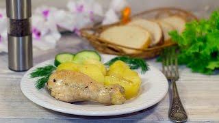 Запекаем куриные ножки в рукаве с картошкой