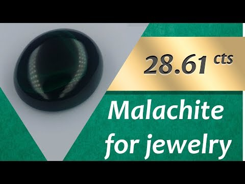 Malachite Jewelry: Design Unique Jewelry with Malachite 28.61 Carats