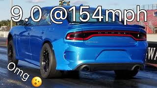 WORLD'S FASTEST DODGE CHARGER HELLCAT! 9.0 @154mph! CRAZY!