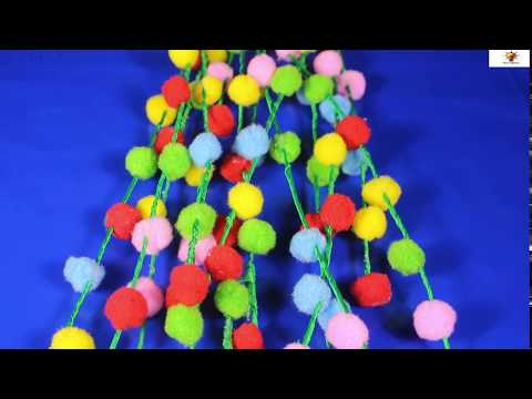 DIY Room Decoration Idea 2020 | Yarn Pom Poms Decor craft | new Room Decoration idea