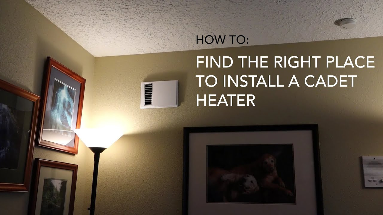 Where Do I Install A Cadet Baseboard Or Wall Heater Heat Wiring Thermostat