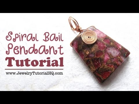 Diy Spiral Bail Wire Wrapped Focal Pendant Tutorial Youtube