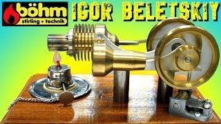 ДВИГАТЕЛЬ СТИРЛИНГА С ШАРМАНКОЙ ЛАНДАУ ЦЕНТР ХАРЬКОВ Bohm Stirling motor ( ИГОРЬ БЕЛЕЦКИЙ )(, 2014-02-16T09:35:51.000Z)