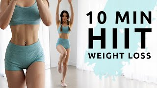 10 Min HIIT to burn calories | Standing Full Body Workout - No Equipment