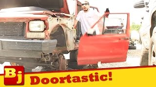 How To remove a Car Door at the Salvage Yard
