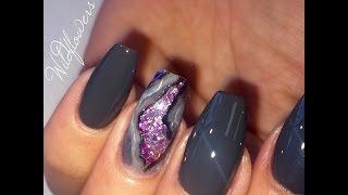 Amethyst Geode Nail Tutorial thumbnail