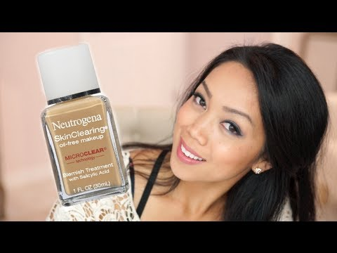 Neutrogena Skin Clearing Oil Free Foundation Review / first impression - itsjudytime