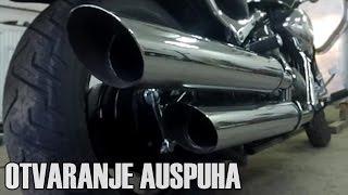 BRUTALAN ZVUK!!! | Suzuki intruder m800 - otvaranje auspuha