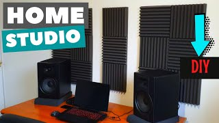 SOUND ABSORPTION EQ ACOUSTIC TREATMENT FOAM PANELS HOME STUDIO DIY