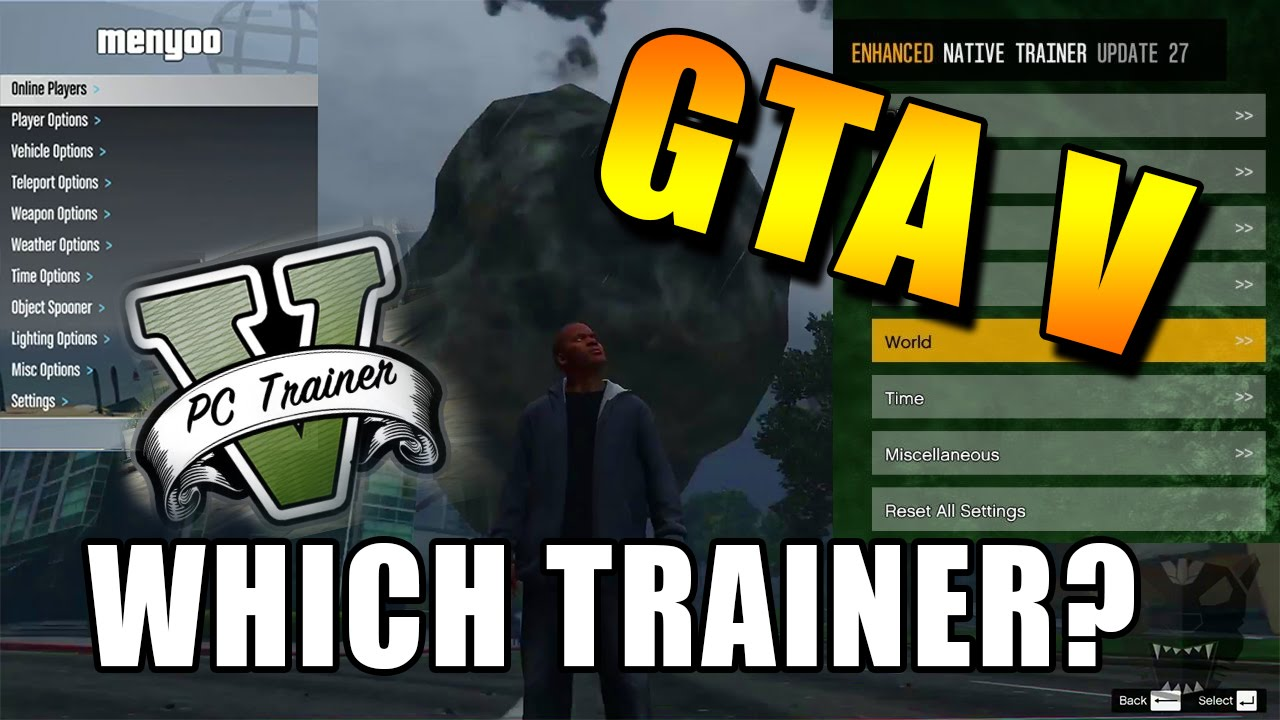 GTA V Trainer Comparison - Simple Trainer, Menyoo, Enhanced Trainer and PC  Trainer V!