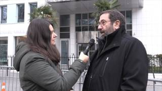 Interviewing Representative of the Pro Israeli Rally Paris