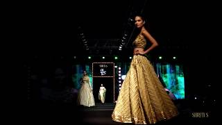 Beautiful gold lehengas.