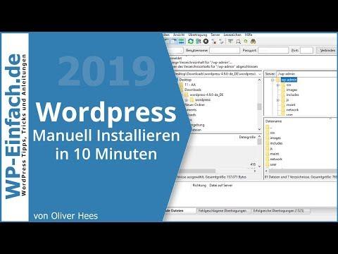 WordPress Installieren Deutsch 2018 **Super Einfach**