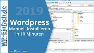 WordPress Installieren 2019 **Super einfach**