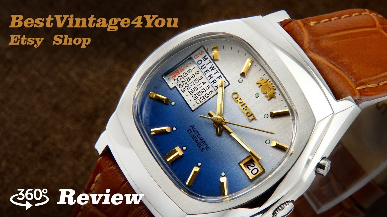 Perpetual Calendar Watch >> Hands-on video Review of Orient Multi Year Calendar Japan Watch From 70s - YouTube