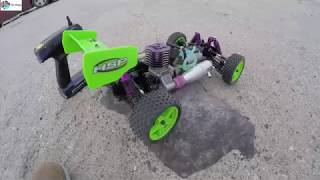 Cover images HSP Nitro 1/10 scale Buggy 2 speed with upgraded pull starter