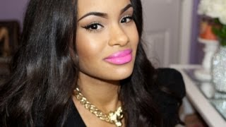 Quick & Easy Summer Makeup Tutorial - Neutral Eyes, Winged Liner & Pink Lips
