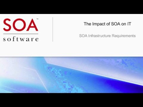 The Impact of SOA on IT: SOA Infrastructure Requirements