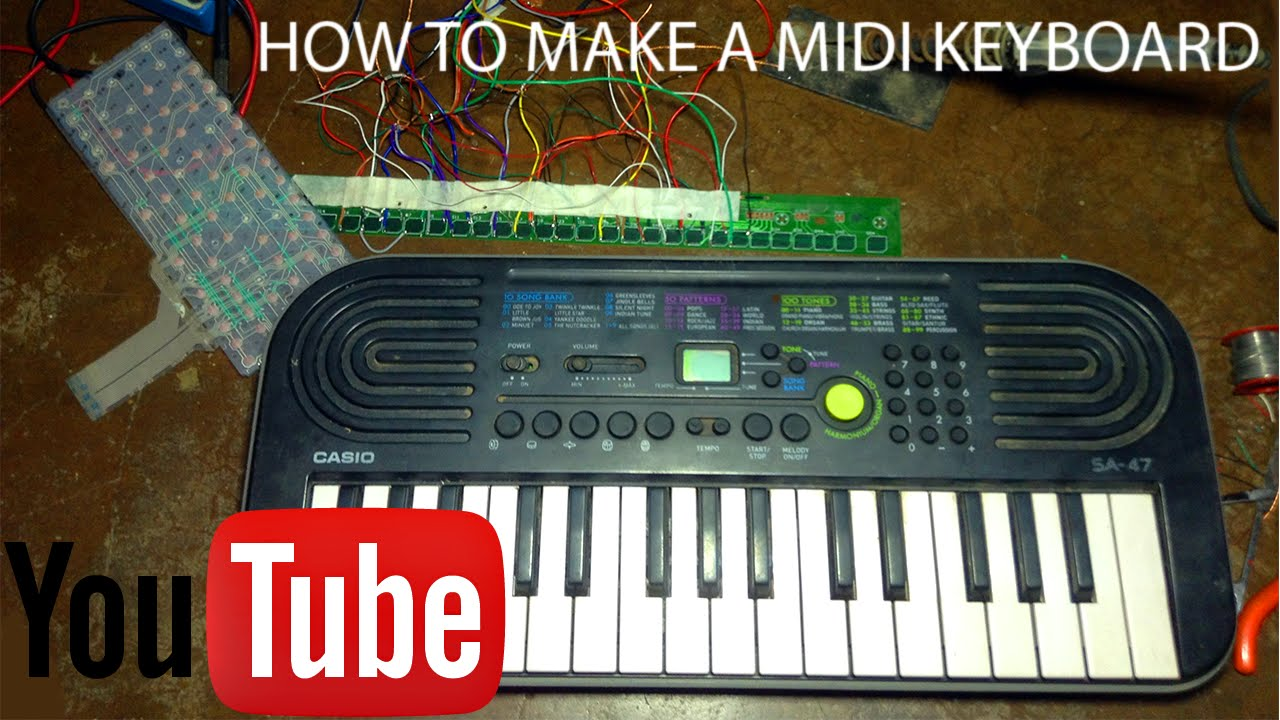 how to make a midi keyboard at home cheapest midi keyboard ever youtube. Black Bedroom Furniture Sets. Home Design Ideas