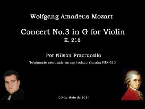 Mozart Violin Concert No.3 Karaokê