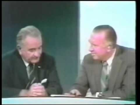 Apollo 11, The Space Program and World Peace - LBJ with Walter Cronkite at Apollo 11 Launch