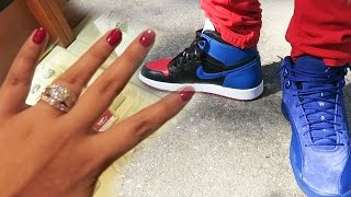 Jordan 12 Deep Royal Blue & RARE Jordan 1 Top 3 EARLY HEAT! Engagement Ring! Sneaker Vlog 42