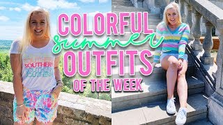 COLORFUL SUMMER OUTFITS OF THE WEEK (May 2019) || Kellyprepster