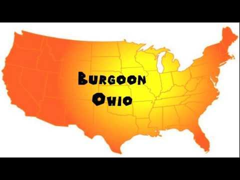 How to Say or Pronounce USA Cities — Burgoon, Ohio