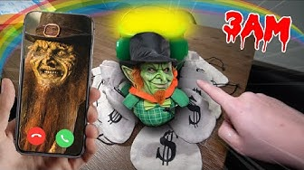 CALLING LEPRECHAUN ON FACETIME AT 3 AM ON ST PATRICK'S DAY!! (HE'S CRAZY)