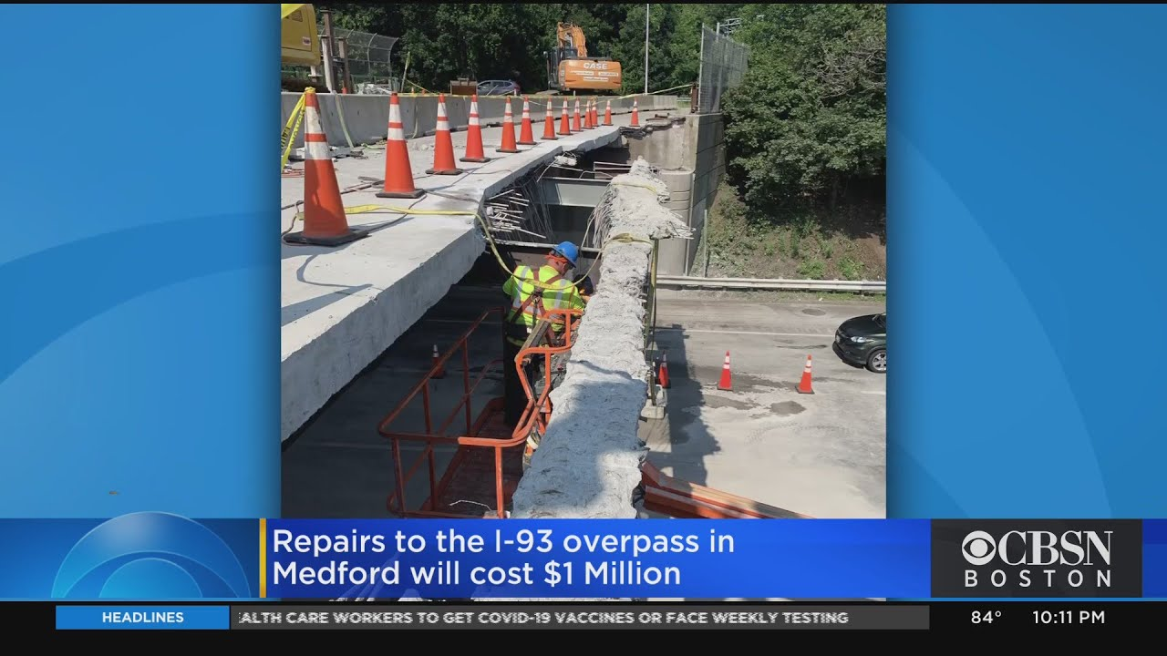 Medford Bridge On I-93 Could Cost More Than $1 Million To Repair