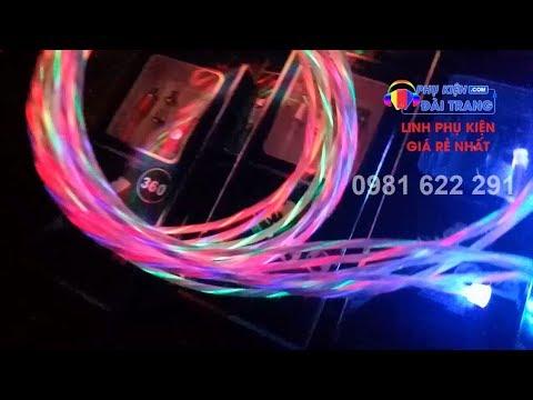 Cọng dây sạc điện thoại PHÁT SÁNG công nghệ 4.0 | Phụ kiện Đài Trang