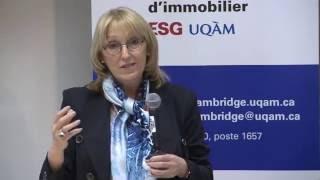 Acfas 2016: Colloque 497 en immobilier - Andrée De Serres, Chaire Ivanhoé Cambridge d'immobilier