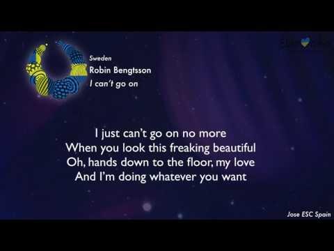 Robin Bengtsson - I can't go on  (Sweden) [Karaoke Version]