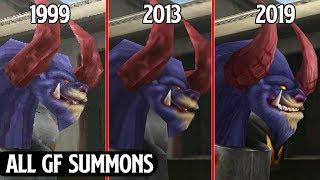 Final Fantasy VIII Remastered - All GF Summons Comparison - Original Ps1 vs PC vs Remastered [4k]