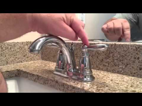 Tighten a Loose Lever on Moen Brantford Faucet - YouTube