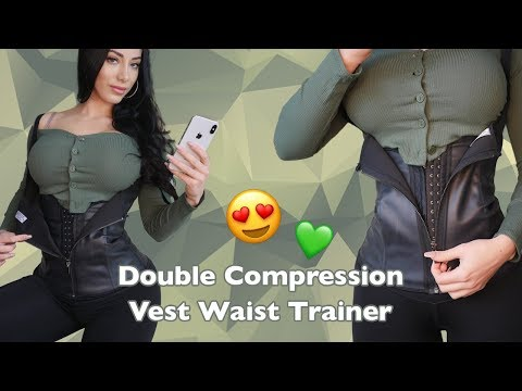 f4652fa659 Intermediate Waist Training - Double Compression Vest Latex Cincher!