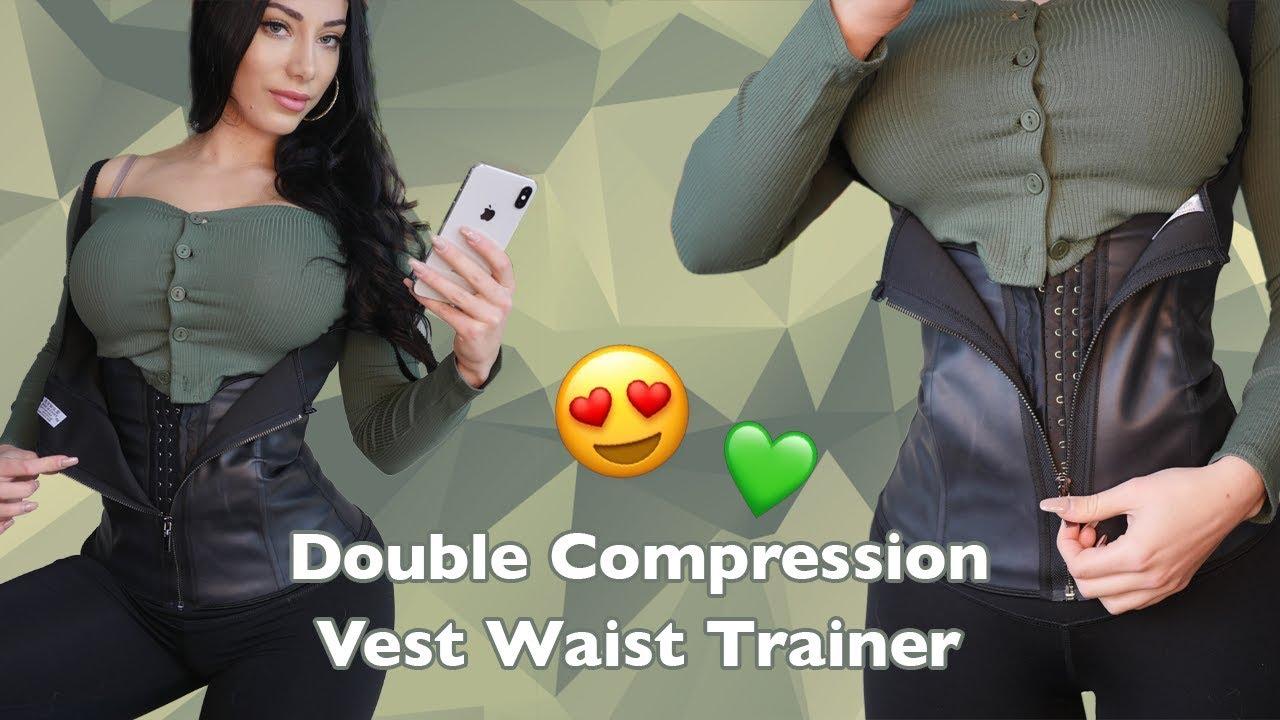 f4f8ad48176d3 Intermediate Waist Training - Double Compression Vest Latex Cincher ...