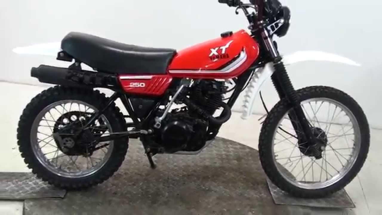1982 yamaha xt250 enduro stok no 72217 youtube